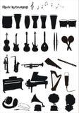 Formes de vecteur d'instruments musicaux Photo libre de droits
