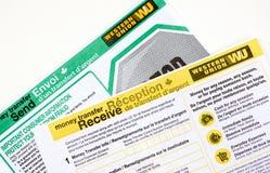 Formes de Western Union sur un fond blanc Photos libres de droits