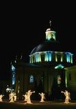 Formes des anges avec la trompette dans le temps de Noël Image libre de droits