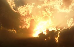 Formes des nuages dans le ciel Photographie stock libre de droits