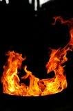 Formes du feu Photographie stock