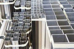 Formes en aluminium images stock