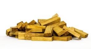 Formes en bois de blocs sur le fond blanc Photographie stock libre de droits