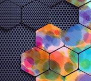 Formes et couleurs abstraites Photo stock