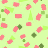 Formes et courses géométriques de brosse Configuration sans joint colorée illustration libre de droits