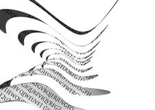 Formes et lettrage abstraits Image stock