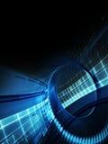 Formes futuristes bleues sur le fond noir Illustration Libre de Droits