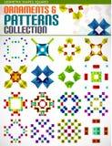 Formes géométriques abstraites de modèles de place réglées Photographie stock libre de droits
