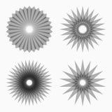 Formes géométriques circulaires abstraites Photographie stock