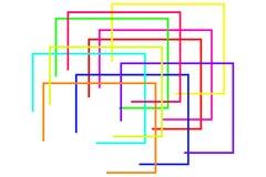 Formes géométriques colorées image libre de droits