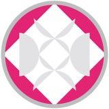 Formes géométriques en cercle rose d'isolement sur le fond blanc illustration libre de droits