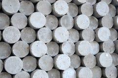 Formes grises de béton de cylindre de cercle Image libre de droits
