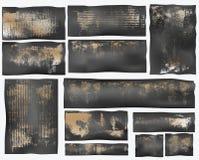 Formes grunges de carton Photographie stock libre de droits