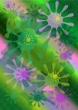 Formes lumineuses surle fondmulticolore de maille Images libres de droits