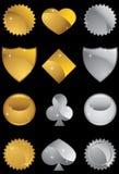 Formes métalliques réglées Photo libre de droits