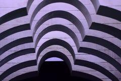 Formes monochromes abstraites de courbes Photos libres de droits