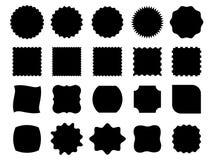 Formes noires de vecteur Photographie stock libre de droits