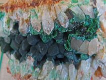 Formes normales Minerais et textures et milieux semi-précieux de pierres Image stock
