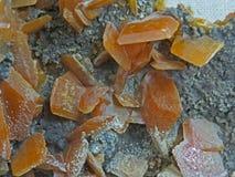 Formes normales Minerais et textures et milieux semi-précieux de pierres Photos stock