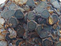 Formes normales Minerais et textures et milieux semi-précieux de pierres Images stock