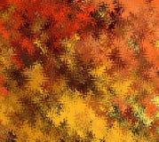Formes onduleuses abstraites chaotiques multicolores d'abrégé sur peinture de Digital dans différentes nuances d'Autumn Tree Leav illustration de vecteur