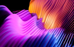 Formes onduleuses et former le fond abstrait photos libres de droits