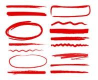Formes tirées par la main Illustration Libre de Droits