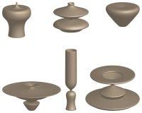 Formes volumétriques, colonnes volumétriques, appuis volumétriques, balustres volumétriques illustration stock
