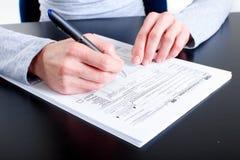 Formez 1040. Déclaration d'impôt sur le revenu Photos stock