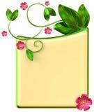 Formez avec des feuilles et des fleurs rouges Images stock
