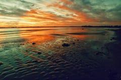 Formez de la réflexion de sable Image stock