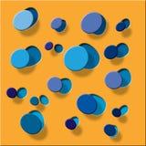 Formez l'orange en plastique Photographie stock