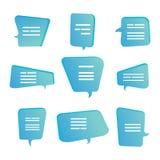 Formez le nuage parlant de la parole, ensemble de boîte de citation Bulles de citation de calibre illustration stock