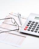 Formez pour des impôts Photos stock