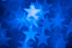 Formfoto der blauen Sterne als Hintergrund Stockfotografie