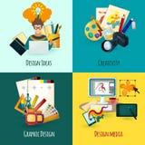 Formgivare Concept Set stock illustrationer