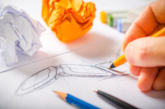 Formgivare Drawing Royaltyfria Foton