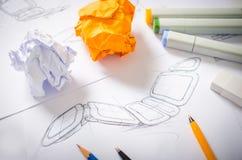 Formgivare Drawing Royaltyfria Bilder