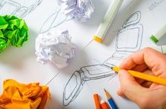 Formgivare Drawing Arkivbild
