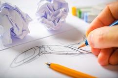 Formgivare Drawing Royaltyfri Fotografi
