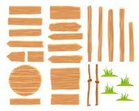 Formgivare för att skapa trävägmärken stock illustrationer