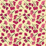 Formgivare för bakgrund för beiga för textur för Sakura filialmodell royaltyfri illustrationer