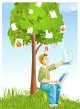 formgivare föreställer treen Arkivbild