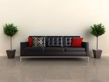formgivare planterar sofaen Arkivfoton