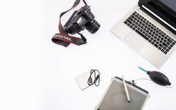 Formgivare Table Isolate Fotografering för Bildbyråer