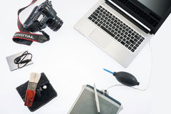 Formgivare Table Isolate Arkivfoton
