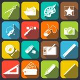 Formgivare Tools Icons royaltyfri illustrationer