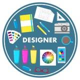 FormgivareFlat Design Vector illustration vektor illustrationer