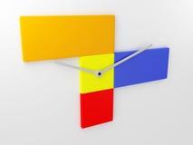 formgivareillustration för klocka 3d Arkivbild