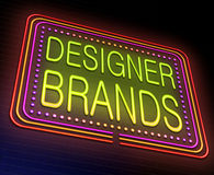 Formgivaren brännmärker begrepp Fotografering för Bildbyråer